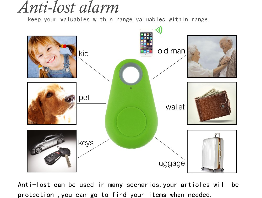 Mini Smart Finder Smart Wireless Bluetooth 4.0 Tracer Child Wallet Key Pet Finder GPS Locator Tracking Tag Alarm System (5)