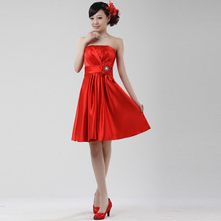 Aliexpress.com : Buy short red dress autumn and winter semi formal ...