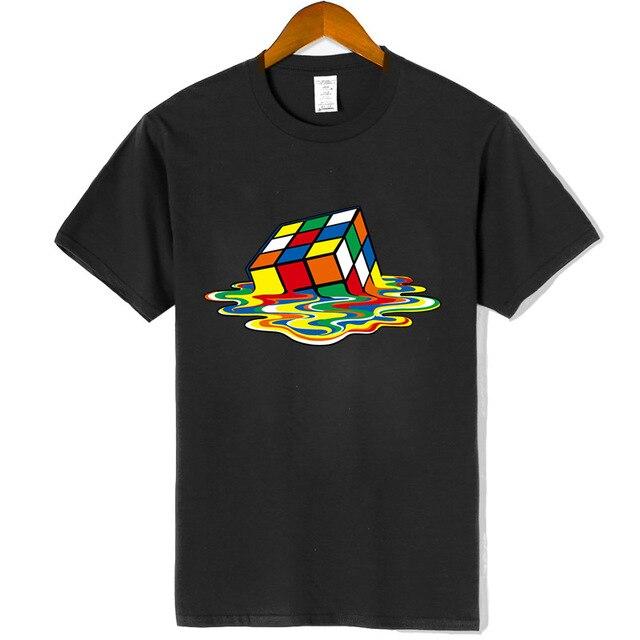 Chất lượng cao thời trang Áo Thun Người Đàn Ông Ma Thuật Quảng Trường thiết kế áo phông Ngắn tay áo Người Đàn Ông T-Shirts Cotton Người Đàn Ông Quần Áo harajuku vui t áo sơ mi