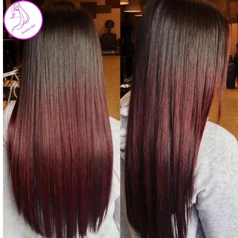 Rosa Hair Products 1B Burgundy Wine Red Hair Weave Bundles