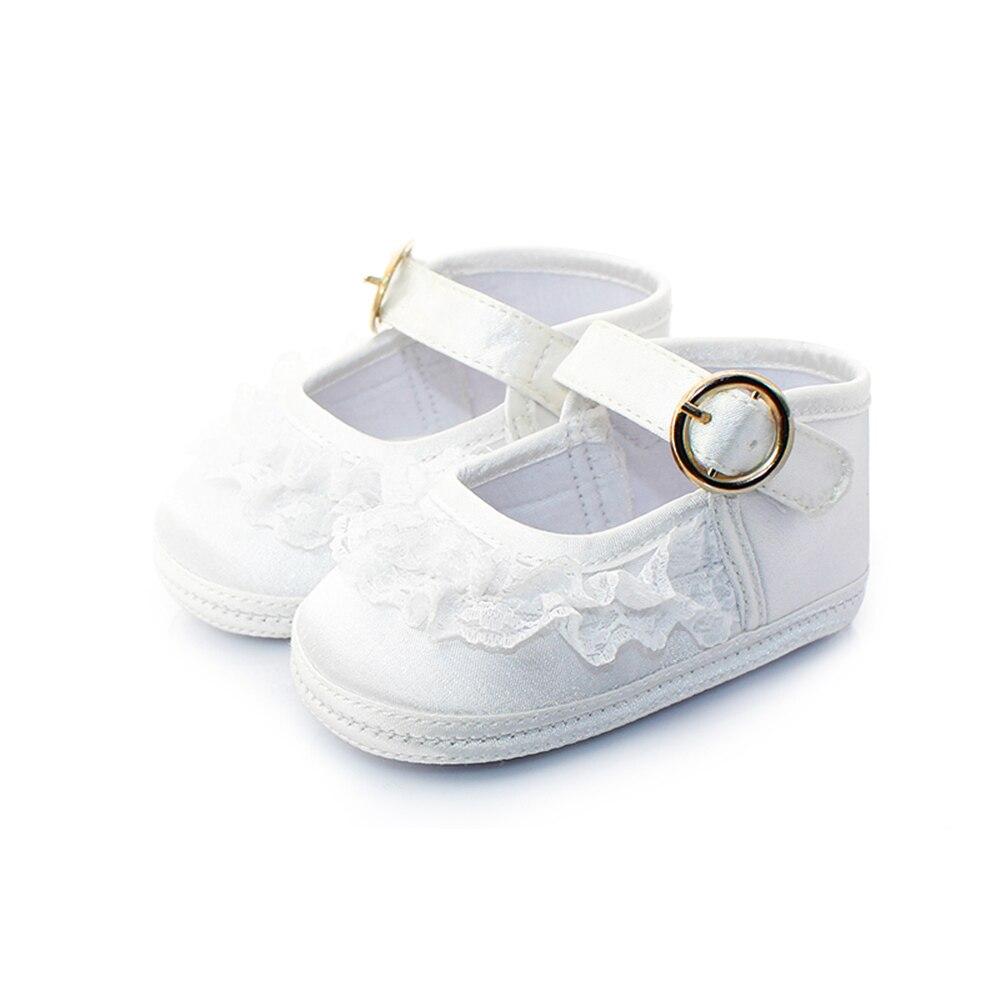 Delebao Pure White Taufe Babyschuhe Säuglingskleinkind Taufe Schuhe - Babyschuhe - Foto 3
