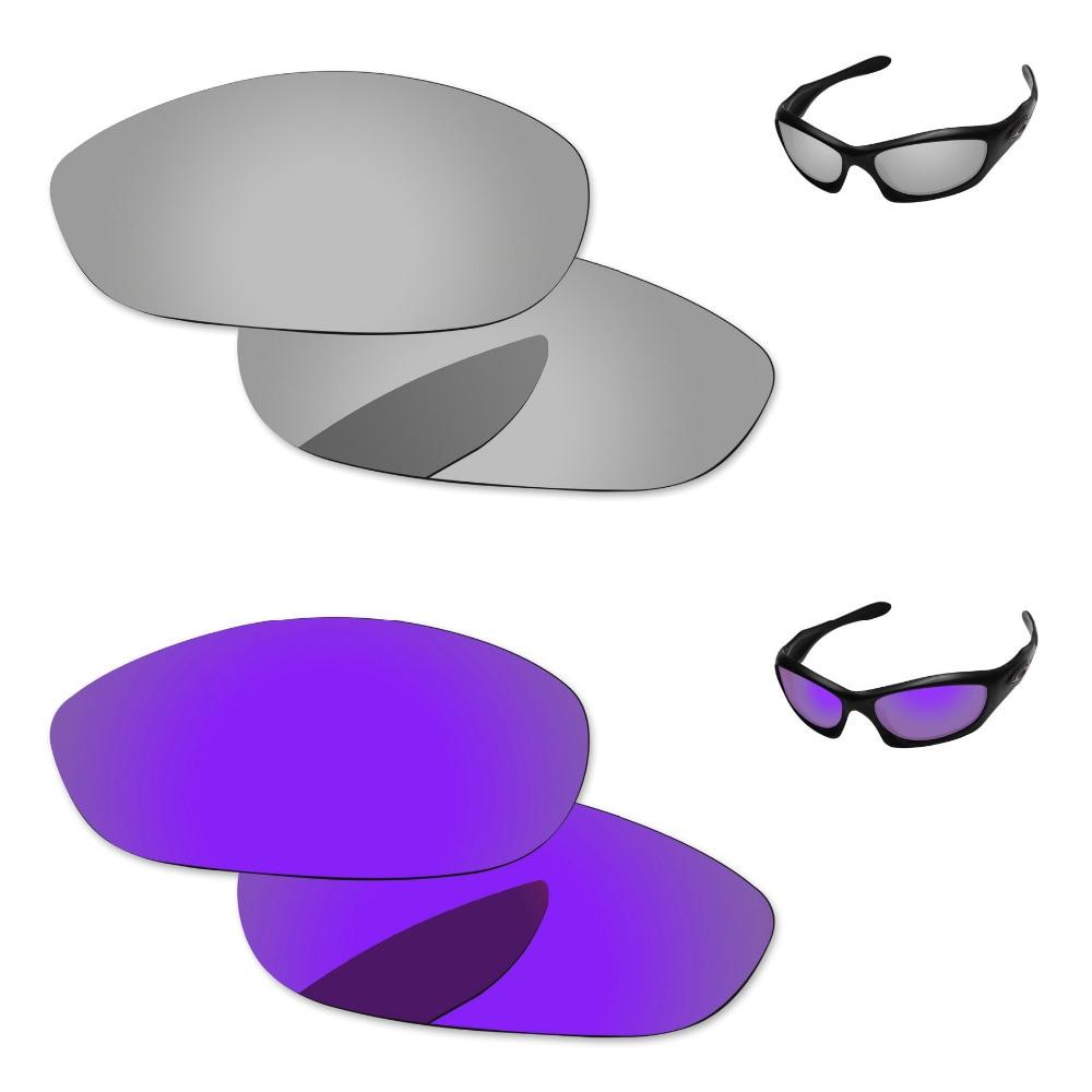 d936d2ad13 Cromo de plata y púrpura 2 pares espejo polarizadas lentes para perro gafas  de sol marco 100% UVA y UVB protección