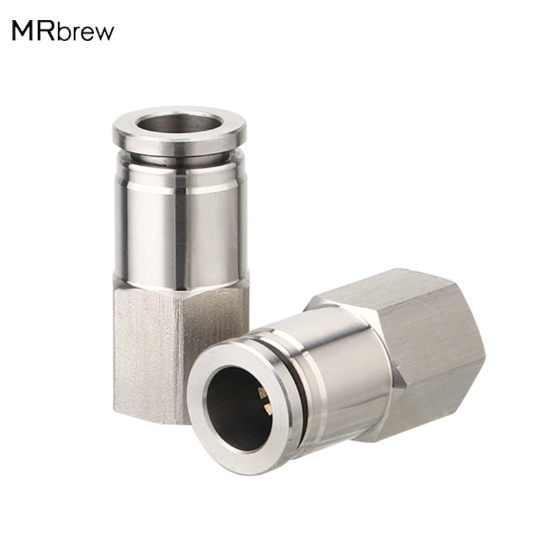 Push in Fittings MFL connect with 5/16'' OD Hose Tube Speed connect fit for Cornelius Keg Ball Lock Disconnect corny|Bar Sets| |  - title=