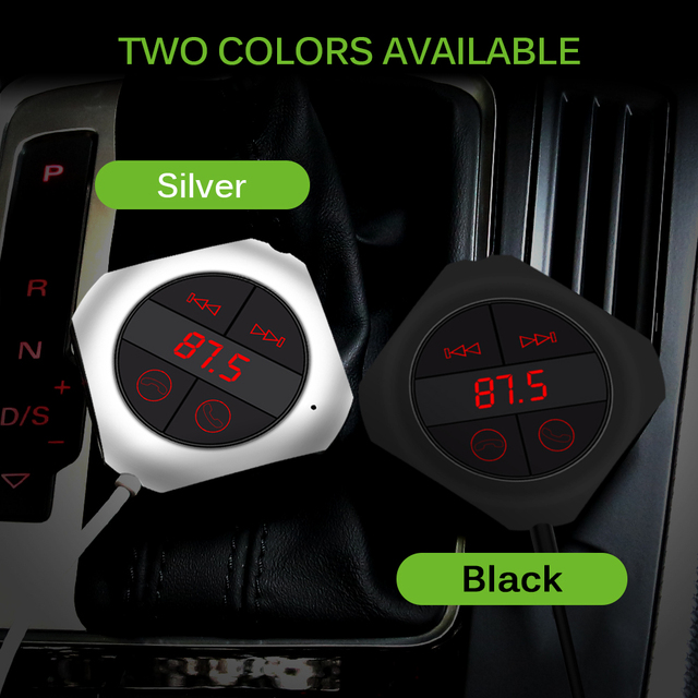 Onever 6-in-1 Hands Free Wireless Bluetooth FM Transmitter Modulator Car MP3 Player TF/SD Memory Card USB LCD Car Accessories