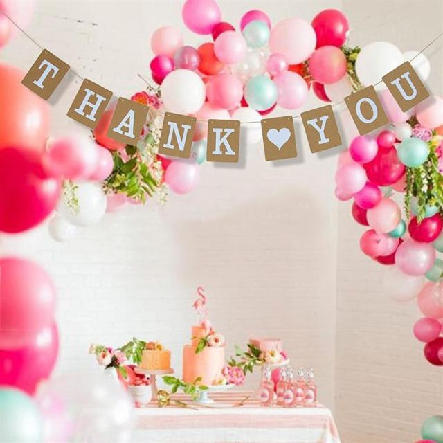 Thank You Banner Wedding Decoration Bridal Baby Shower Party Supplies  Birthday Guest Favor Gifts Signs Bunting