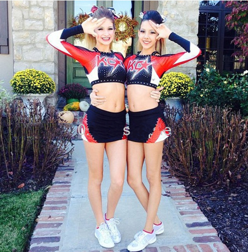 Competion Cheerleader Uniform Male/female Performance Sport Outfit Costume Pom Pom Hairbow Custom Style High Quality
