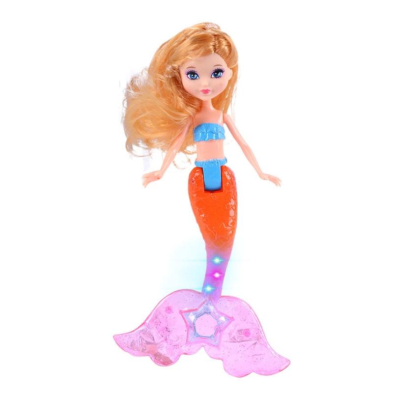 ᗖ7.4 pulgadas nueva moda sirena muñeca con luz clásico Natación ...