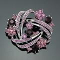 Beautiful brooch fashion style crystale bouquet pins brooches for women wedding and party brooches