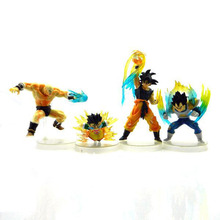 Pop Japanese Anime Cartoon DragonBall  Z GT Goku/Vegeta Action figure 4PCS/SET  Free Shipping