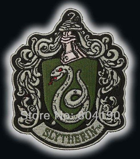 Slytherin Crest Iron On Sew On Patch