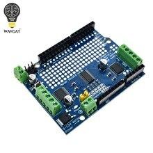 Oficial iic i2c tb6612 mosfet motor de passo pca9685 pwm servo driver escudo v2 para arduino robô pwm uno mega r3 substituir l293d