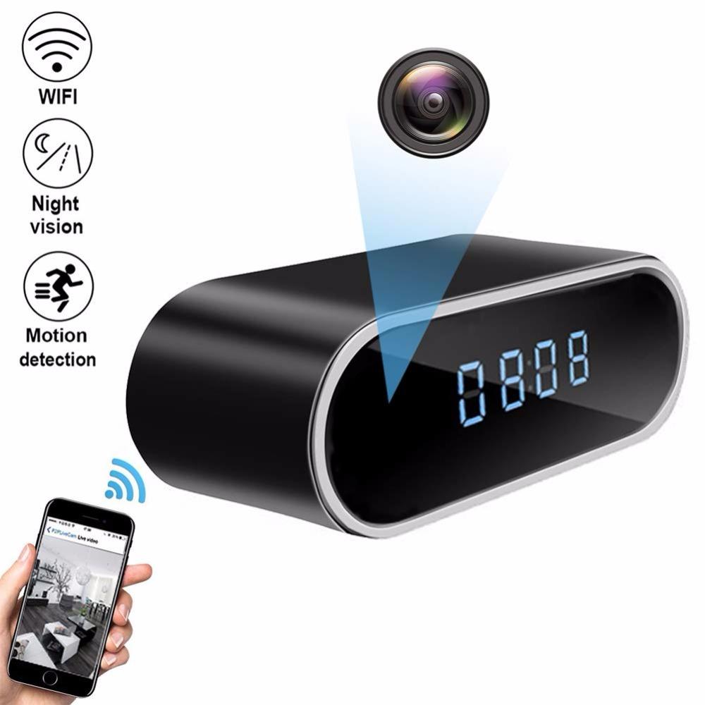 Micro Wifi IP Camera HD 1080P Clock Mini Camcorder Wireless Video Recorder Security Digital Cam Motion Detection Sensor hidden