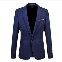 British gentleman men fattening code spring and autumn Slim casual suit solid color coat fat