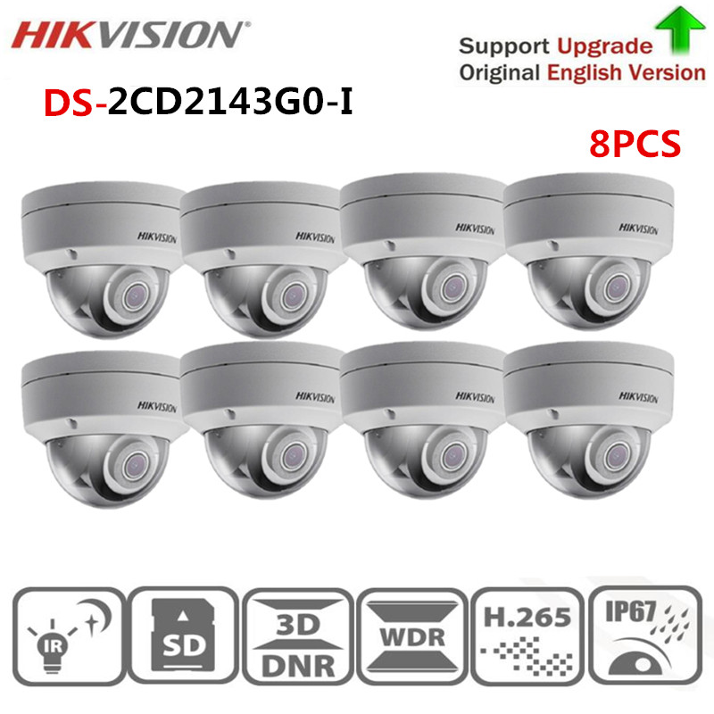Hikvision mini dome ip camera poe onvif DS 2CD2T23G0 I5 2MP IR Fixed Bullet Network Camera Built in SD slot security protection