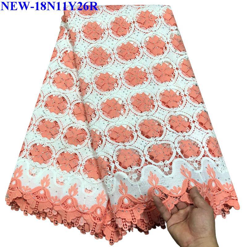 Rhinestones 고품질 아프리카 골드 코드 레이스 직물 복숭아 색 자수 나이지리아 드레스 NWQ 00 수용성 guipure-에서레이스부터 홈 & 가든 의  그룹 1
