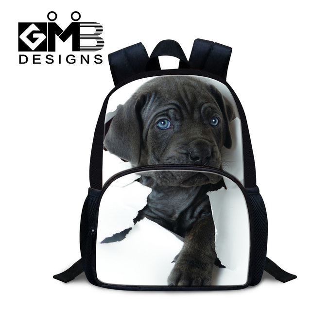 Dispalang 3D dog printed mini backpacks for kids personalized animal felt  backpack for preschoolers 12 inch bagpack for children