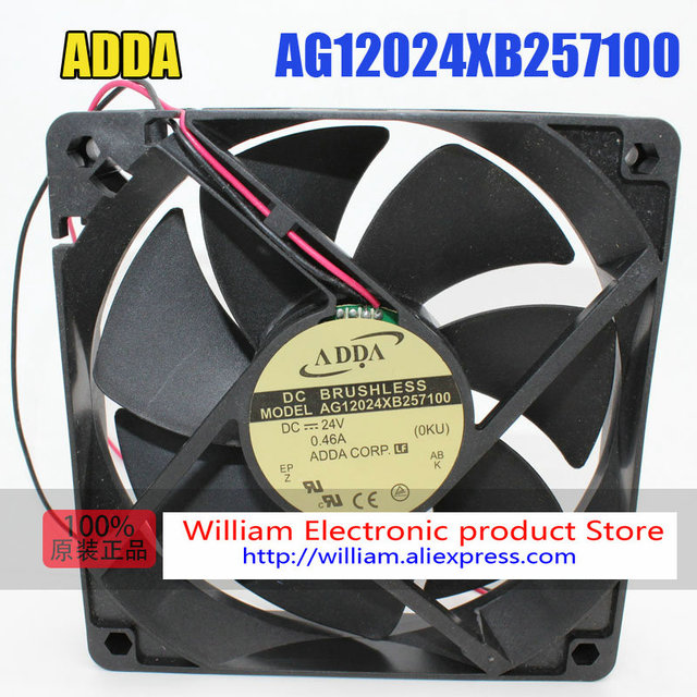US $18 4 8% OFF|New Original ADDA AG12024XB257100 DC24V 0 46A 120*120*25MM  12CM Inverter Cooling fan-in Fans & Cooling from Computer & Office on