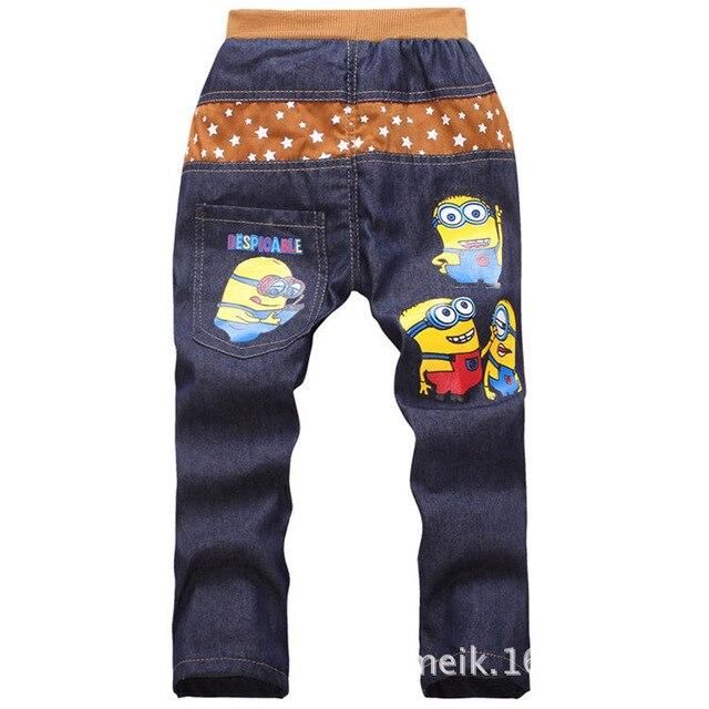 Inlovill ребенка-одежда 2016 мода миньоны брюки девочки / мальчики джинсы для детей одежда тонкий свободного покроя для мальчиков