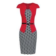 6d8c2d6447 SAGACE sukienka nowa sukienka letnia kobiety Colorblock kratę ubrać do  pracy firm Party Bodycon jednoczęściowy skrzydła ubrania .