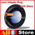 M42-AI Camera Lens Adapter Ring M42 Lens to NIK0N AI Metal Black (With Glass)