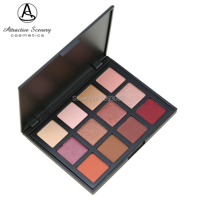 Professional 12 Color Eyeshadow Palette Earth Warm Shimmer Matte Beauty Makeup Set Smoky Eye-shadow 12K