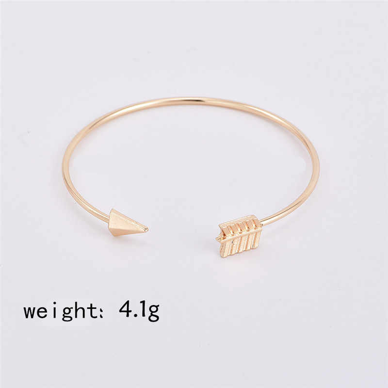 2PCS Vintage Gold Color Tie Knot Bracelet Bangles Simple Twist Cuff Open Bangles For Women Indian Jewelry Costume Jewellery 2018
