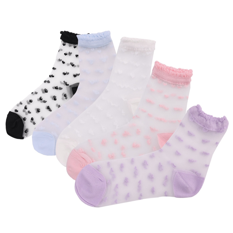 Women`s Sock Summer High Quality 1 Pair Love Styl Soft Attractive Comfortable e Sweet Sock Sales Fashion Transparent