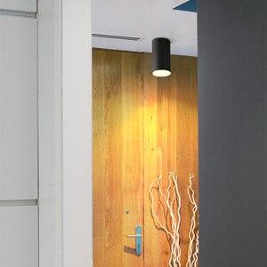 Image 5 - [DBF] İskandinav koçanı yüzeye monte Downlight 10W 12W 15W arka plan duvar giyim mağazası vitrin pencere LED tavan Spot aydınlatma