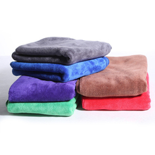 5pcs 40x60cm Soft Car Wash Microfiber Cloth Car Cleaning Thick Microfibre Towel Polishing Cloth Sponges Cloths Cleaning Products
