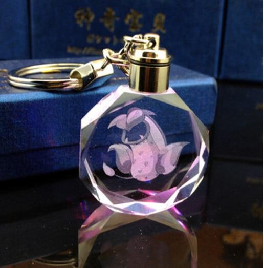 Аниме брелок светодиодный кристалл с покемонами в ассортименте 2