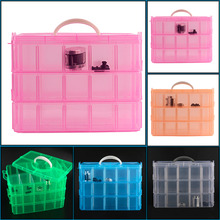 30 Grids 5 Colors Plastic Storage Box For Toys Jewelry Display Makeup Case Holder Craft Drop Shipping Wholesale