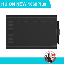 HUION 1060 PLUS USB Arte Diseño Digital LCD Tablet Dibujo Pad Tableta gráfica Monitor OSU USB Smart Corán Pluma Digital Para PC