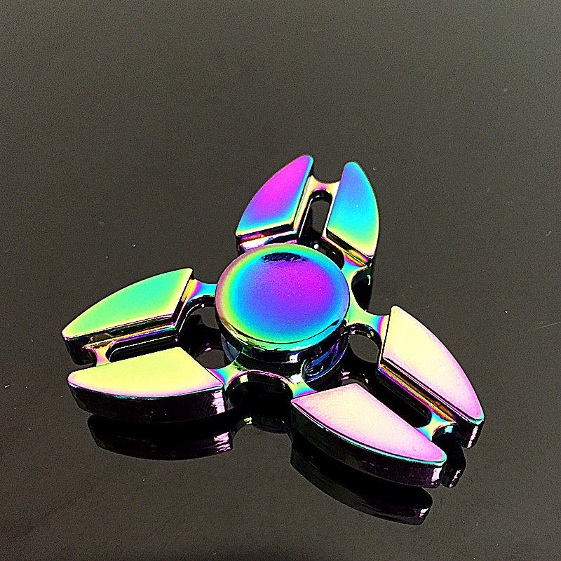 Triangle Crab Fidget Spinner Metal Rainbow Dragon Hand Finger Spinners Autism ADHD Focus Anxiety Relief Stress SZJD