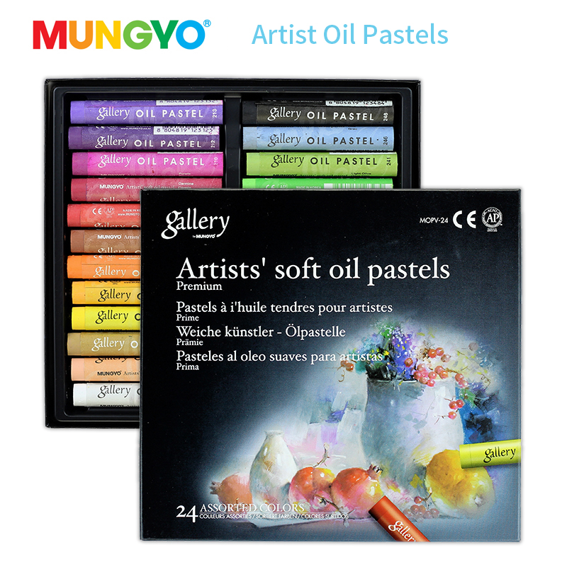 Mungyo 12 24 36 Colors Professional Soft Oil Pastel Dry High Quality Heavy Color Crayons For Drawing Stationery Art Supplies Wax in Oil Pastel from Office School Supplies