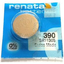 Bateria de botão de relógio renata, bateria de relógio de longa duração 390 sr1130sw 389 lr54 ag10, tipo moeda 100%, 1 peça original