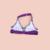 1 Sets Niños traje de Baño Bras Panties Poliéster Rayada Púrpura de Dos Piezas Bikini Set Niñas Swimwear AS014