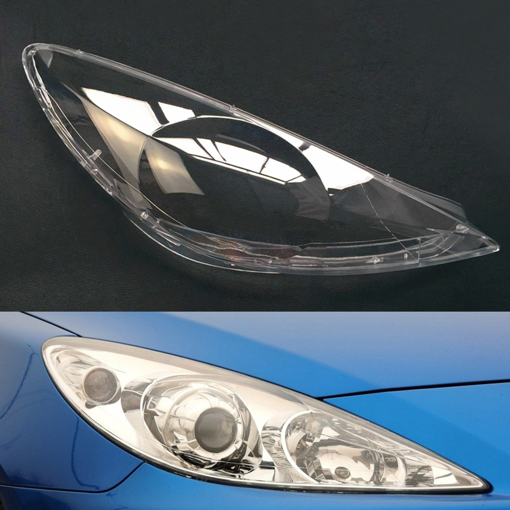 For Peugeot 307 2008 2009 2010 2011 2012 2013 Car Headlight Headlamp Clear Lens Auto Shell Cover