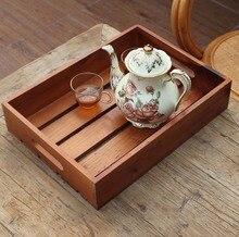 ZAKKA искусства ван Ретро ностальгия полностью натурального дерева ящик для хранения деревянных поддонов старинные коробка чая лотки