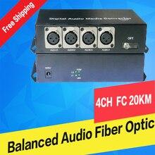 Digital 4 CH Balanced Audio(XLR)To Fiber Optic