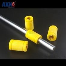 AXK линейные рельсы ЧПУ Запчасти 10 шт. 3d принтер сплошной полимерный Lm10uu подшипник-10 мм вал пластиковые 10 мм линейные подшипники