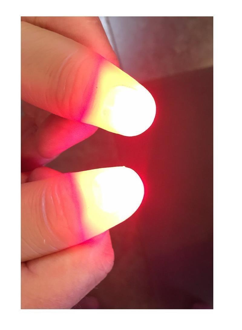 4Pcs Magic Trick Props Funny Gag LED Light Flashing Fingers For Kids Glow Toys