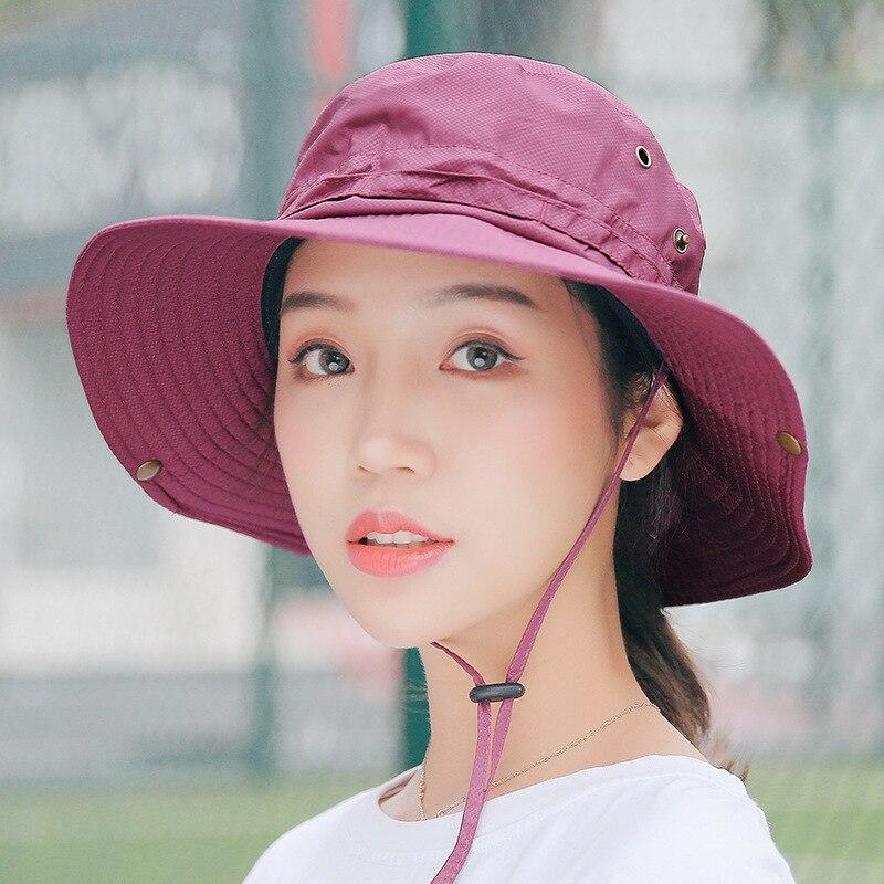 MIARA L new outdoor folding hats wholesale women 39 s summer dry fisherman 39 s hats men 39 s sun hats mountaineering hats in Men 39 s Sun Hats from Apparel Accessories