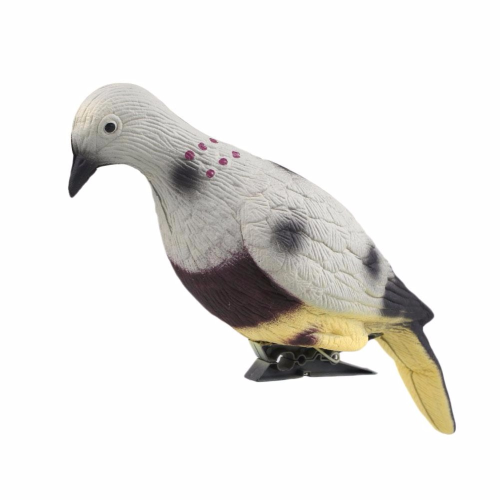 WoSporT Durable 3D Hunt Pigeon Decoy Yard Plant Scarer Hunting Bait Garden Decor for Hunting Decoy Outdoor Shooting Target