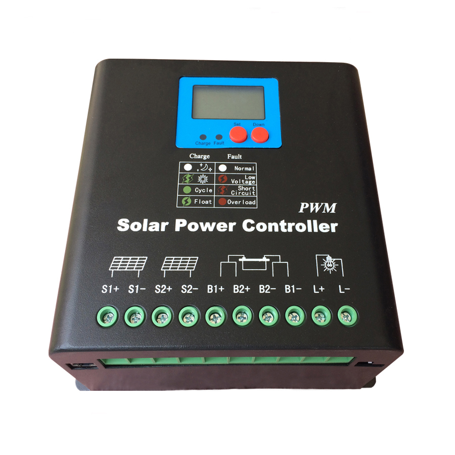 High Voltage 192V 30A Solar Charge Controller,192V Battery Regulator 30A for 6000W PV Panels Modules, Dual-fan cooling image