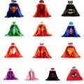 Moda Máscara + capa de Superman Spiderman Niños capas de Superhéroes Batman Superhero Costume Trajes de Niños Niñas Niños Partido Ropa