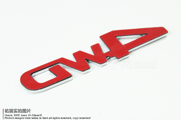 luckeasy 3D 4WD car stick emblem 4 drive SUV for Ford Toyota Jeep CR-V RAV4 4WD