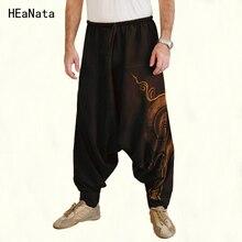 Мужские джоггеры, индийские штаны-шаровары размера плюс, штаны с большим шаговым швом, Непальские Мешковатые хиппи, мешковатые штаны на шнурке, повседневные штаны для йоги в стиле панк