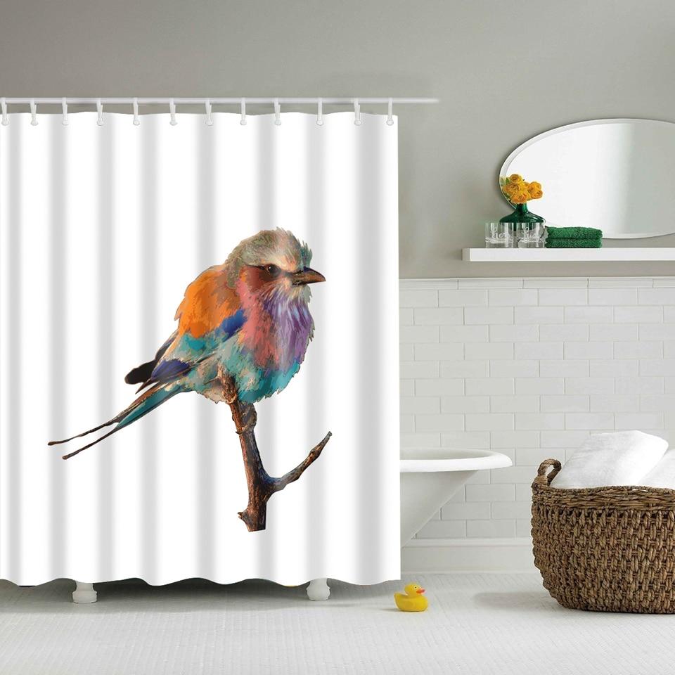 Svetanya bird Print Cortinas De Ducha Productos de Baño Decoración Cuarto De Bañ