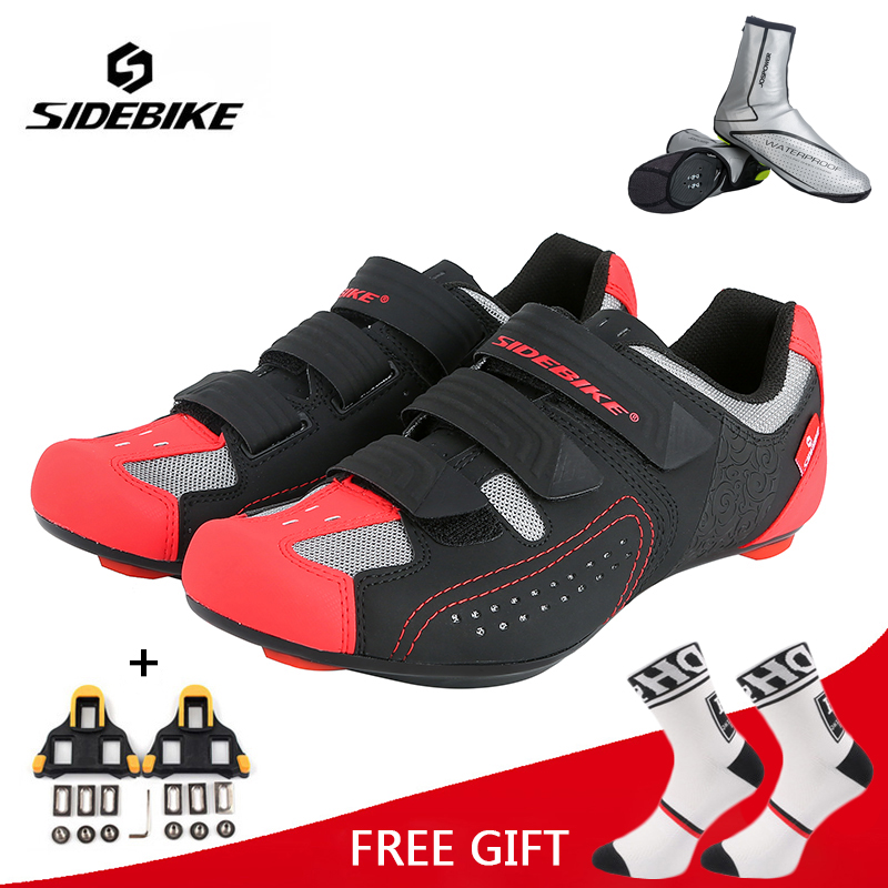 Sidebike Professional Cycling Shoes Men Women Racing Road Bike Shoes Self Locking Breathable Bicycle Athletic Ultralight