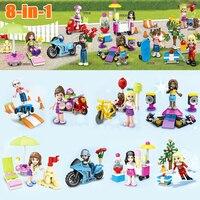 8Pcs Lot SY628 Monster School Girl Friends Mini Dolls Building Block Bricks Toys Set Compatible With